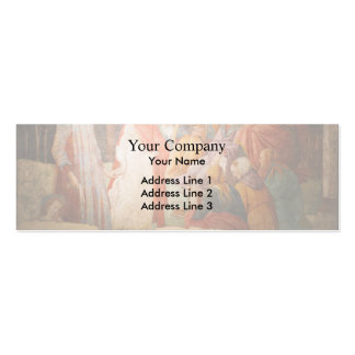 Sandro Botticeli:Young Man Greeted by Liberal Arts Double-Sided Mini Business Cards (Pack Of 20)