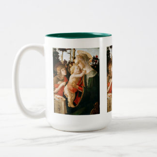 Sandro Botticelli and Madonna and Child Two-Tone Coffee Mug