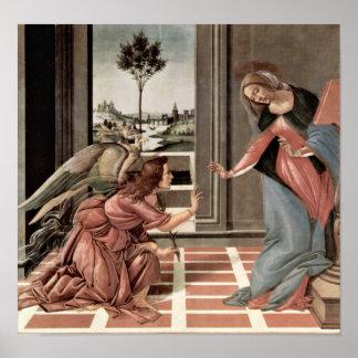 Sandro Botticelli - Annunciation Posters