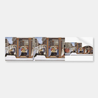 Sandro Botticelli- Baptism of St Zenobius Car Bumper Sticker
