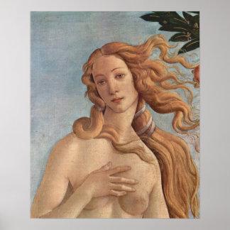 Sandro Botticelli-Birth of Venus Detail 3 Poster