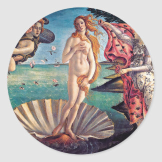 Sandro Botticelli - Birth of Venus - Fine Art Classic Round Sticker
