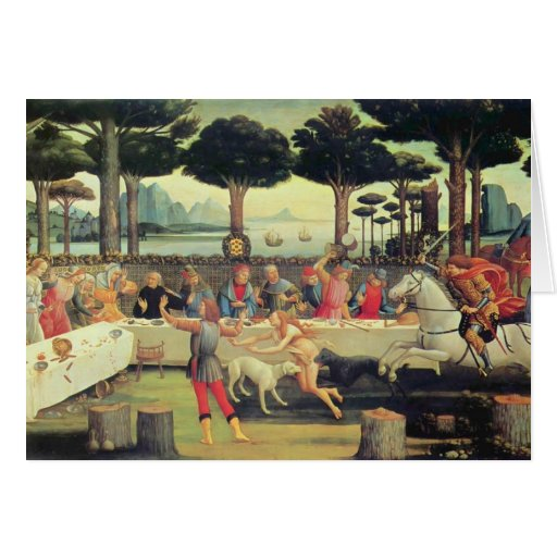 Sandro Botticelli: Historia de Nastagio Degli Ones Felicitación