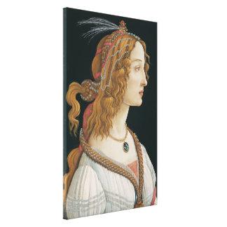 Sandro Botticelli - Idealized Portrait of a Lady Canvas Print