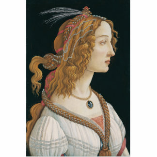 Sandro Botticelli - Idealized Portrait of a Lady Cutout