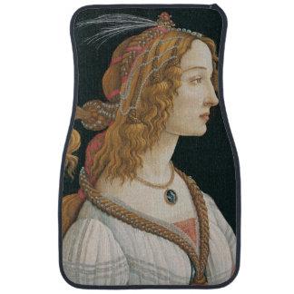 Sandro Botticelli - Idealized Portrait of a Lady Floor Mat