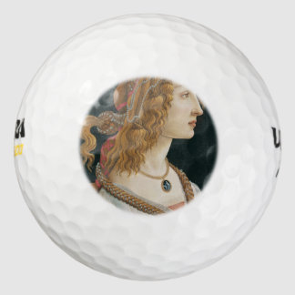 Sandro Botticelli - Idealized Portrait of a Lady Pack Of Golf Balls