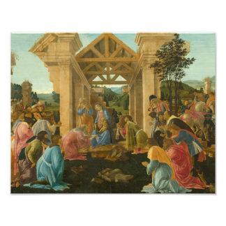 Sandro Botticelli - la adoración de unos de los Cojinete