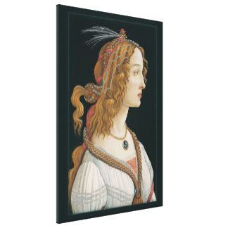 Sandro Botticelli Lady CC0282 Canvas (44in 112cm) Canvas Print
