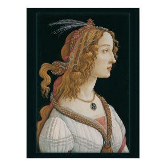 Sandro Botticelli Lady CC0321 New Options Poster