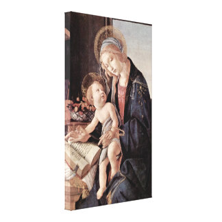 Sandro Botticelli - Madonna of the Book Canvas Print