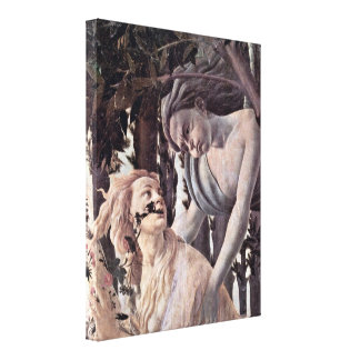 Sandro Botticelli - Nymph pursued by Zephyr Canvas Print