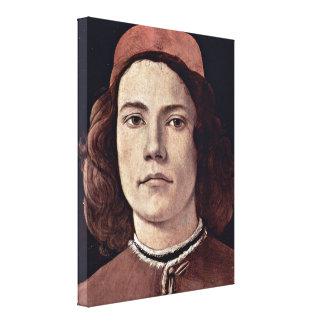 Sandro Botticelli - Portrait of a young man Canvas Print