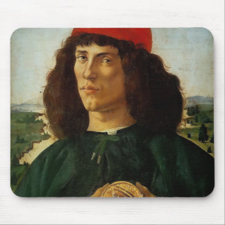 Sandro Botticelli-Portrait of Man with Medal Mousepad