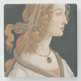 Sandro Botticelli - retrato idealizado de una Posavasos De Piedra