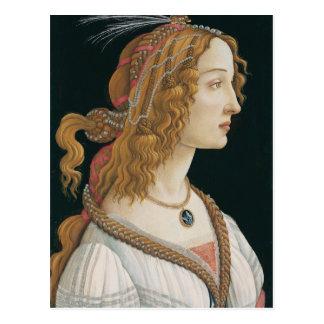 Sandro Botticelli - retrato idealizado de una Tarjetas Postales