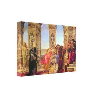 Sandro Botticelli - Slander Canvas Print