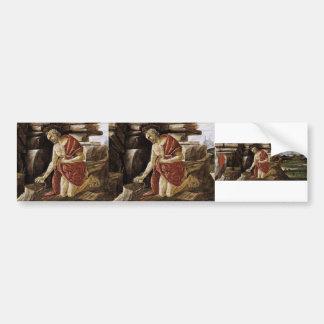 Sandro Botticelli- St Jerome in Penitence Car Bumper Sticker