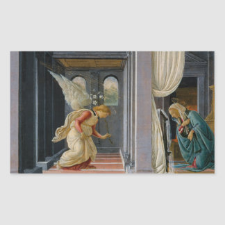 Sandro Botticelli - The Annunciation Rectangular Sticker