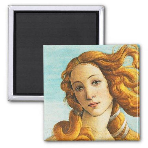 Sandro Botticelli The Birth of Venus Face Detail Magnet
