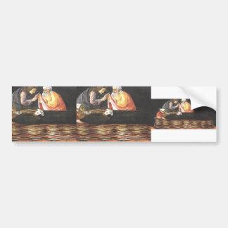 Sandro Botticelli- The Extraction of St. Ignatius Car Bumper Sticker