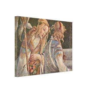 Sandro Botticelli - The Temptation of Christ Canvas Print