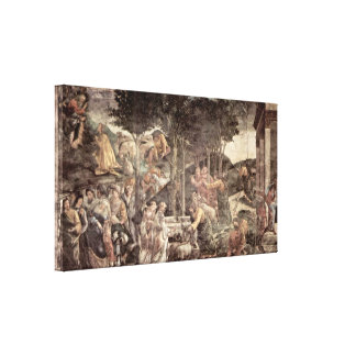 Sandro Botticelli - The Youth of Moses Canvas Print