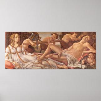 Sandro Botticelli-Venus and Mars Posters