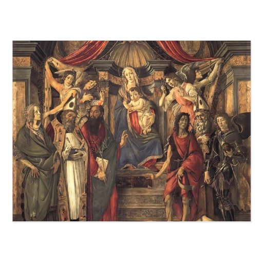 Sandro Botticelli- Virgin and Child with Saints Postcards