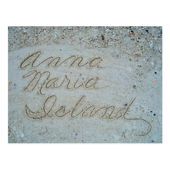 Sands of Anna Maria Postcard