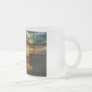 Sands of memory frosted glass coffee mug