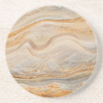 Sandstone Background - Sand, Stone Rock Customized Drink Coaster