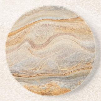 Sandstone Background - Sand, Stone Rock Customized Drink Coaster