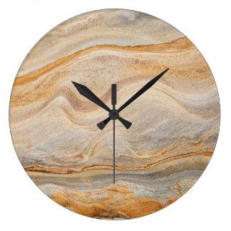 Sandstone Background - Sand, Stone Rock Customized Large Clock