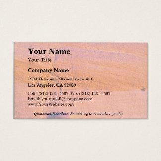 Sandstone boulder business card