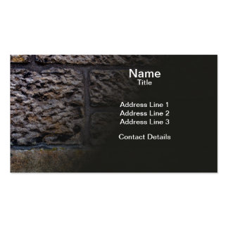 Sandstone Brick Wall Business Cards