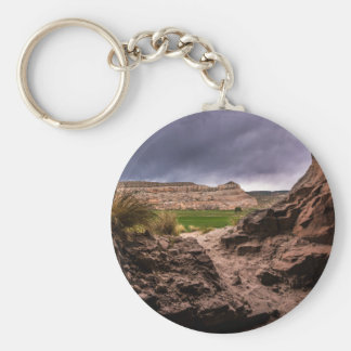 Sandstone Cave In Stormy Weather - Moab - Utah Keychain