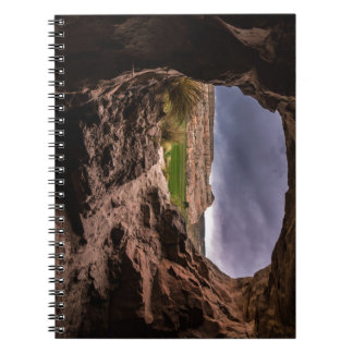 Sandstone Cave In Stormy Weather - Moab - Utah Notebook