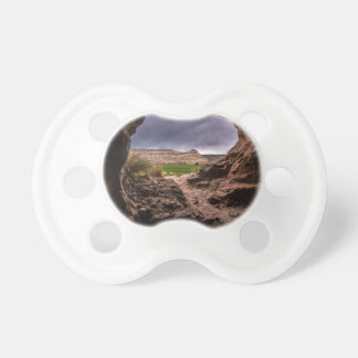Sandstone Cave In Stormy Weather - Moab - Utah Pacifier