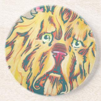 Sandstone Coaster - Cowardly Lion