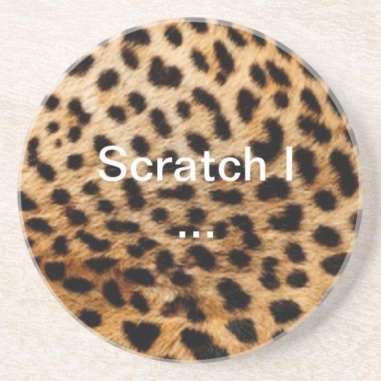 "Sandstone coaster ""leopard """