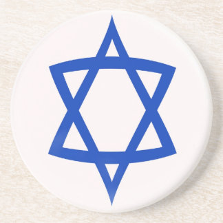 Sandstone Coaster -  Star of David flag