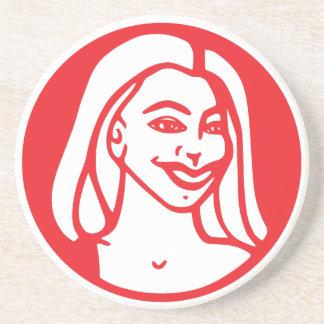 Sandstone Coaster w/ Q-Tea-Pie logo