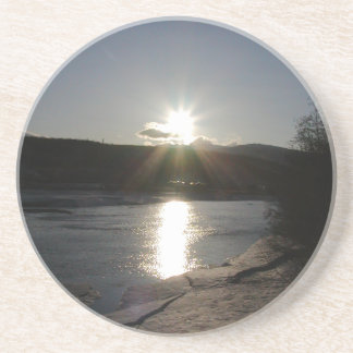 sandstone coaster with photo of Yukon River