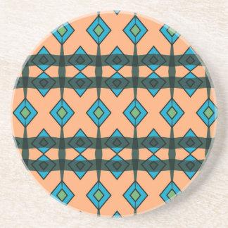 Sandstone Coasters with Southwestern Design
