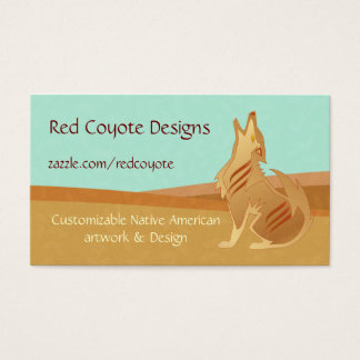 Sandstone Coyote Business Card