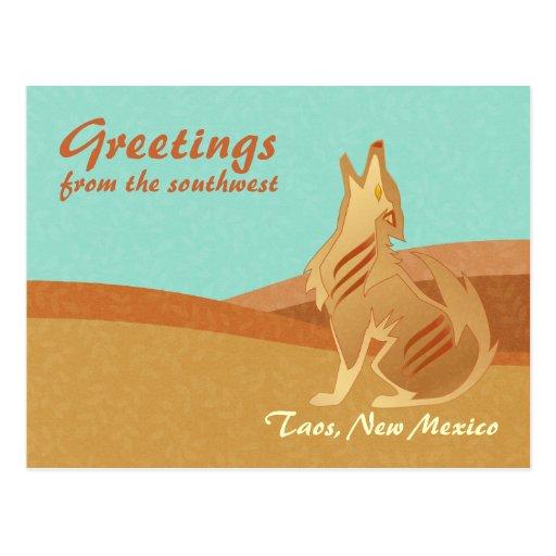 Sandstone Coyote Postcard