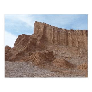 Sandstone desert rock formation postcard