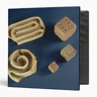 Sandstone dice and terracotta maze game, Harappa, 3 Ring Binders
