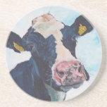 Sandstone Drink Coaster - 0254 Irish Friesian Cow